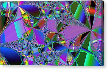 Canvas Print featuring the digital art Jeweled Fantasy by Ann Peck
