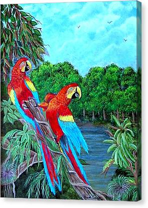 Jewels Of The Amazon Canvas Print by Fram Cama