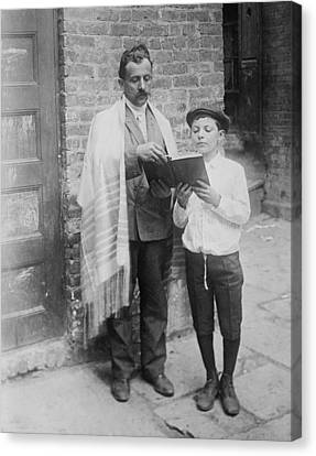 Jewish Man Wearing A Prayer Shawl Canvas Print