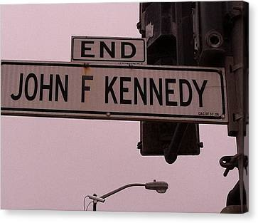Jfk Street Canvas Print by Bill Owen