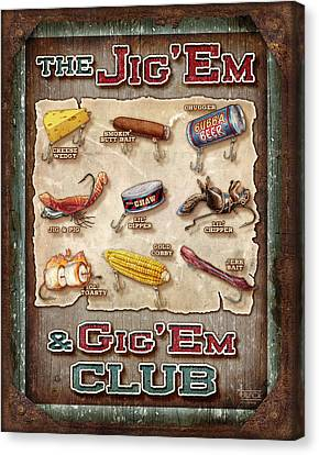 Jig' Em Gig' Em Canvas Print by JQ Licensing