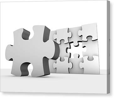 Jigsaw Puzzle, Artwork Canvas Print by Pasieka