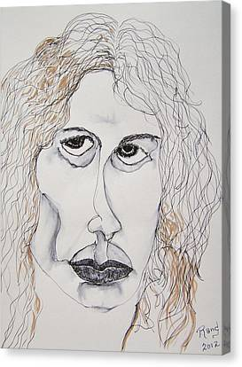 Canvas Print featuring the painting Jim Morrison Contour by Rand Swift