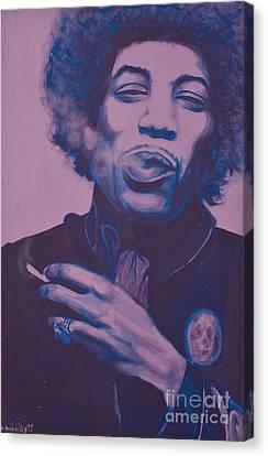 Jimi Canvas Print by Derek Donnelly