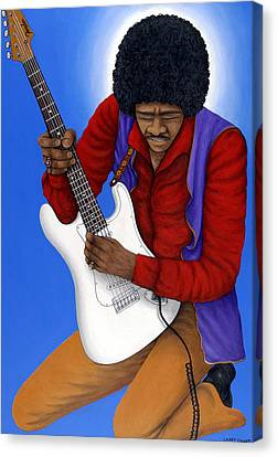 Jimi Hendrix  Canvas Print by Larry Smart