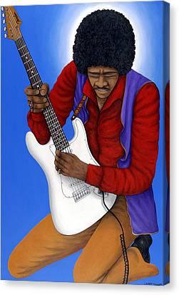 Jimmy Hendrix Canvas Print - Jimi Hendrix  by Larry Smart