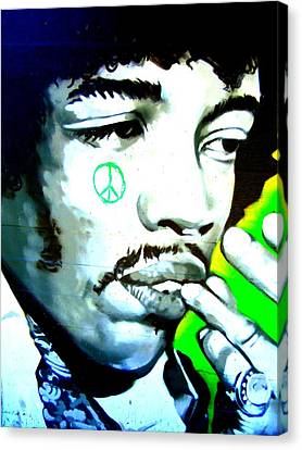 Jimi Hendrix Canvas Print by Randall Weidner