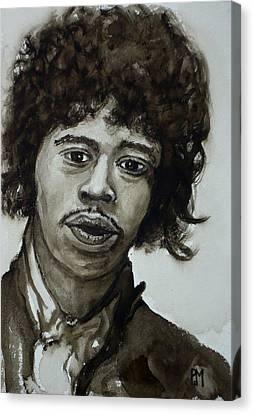 Jimi Canvas Print by Pete Maier