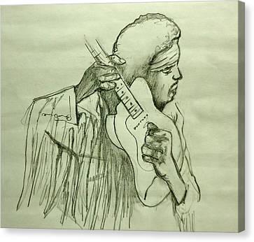 Jimi Sketch Canvas Print by Pete Maier