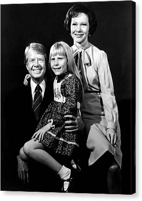 Jimmy Carter, Amy Carter And Rosalynn Canvas Print by Everett