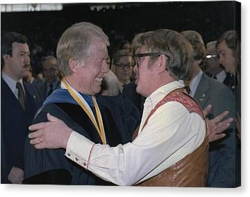 Jimmy Carter Greets His Brother Billy Canvas Print by Everett