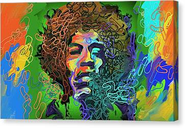 Jimmy Hendrix Canvas Print by Clifford Peacock