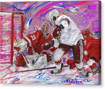 Jimmy Howard II Canvas Print by Donald Pavlica