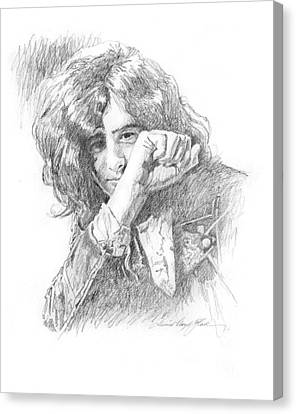 Jimmy Page In Person Canvas Print by David Lloyd Glover