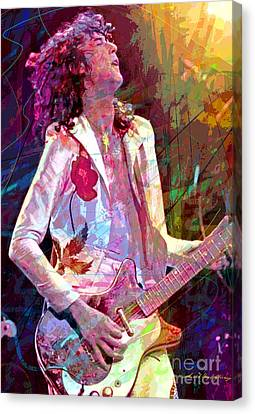 Jimmy Page Canvas Print - Jimmy Page Led Zep by David Lloyd Glover