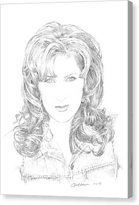 Jo Dee Messina Canvas Print by Jan Andrews