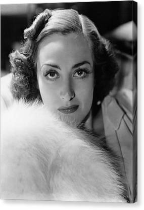 Joan Crawford, Ca. Late 1930s Canvas Print by Everett