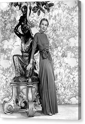 Joan Fontaine Canvas Print by Everett