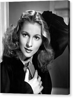 Joan Fontaine, Portrait, 1940s Canvas Print by Everett