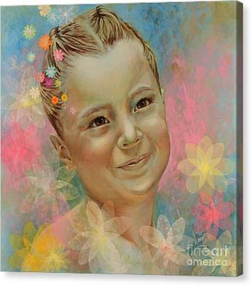 Joana's Portrait Canvas Print by Karina Llergo