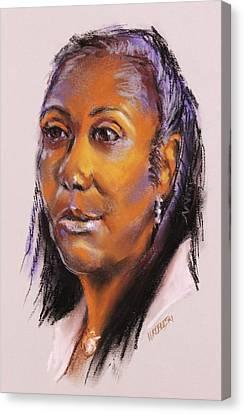 Joann Canvas Print by Peggy Wrobleski