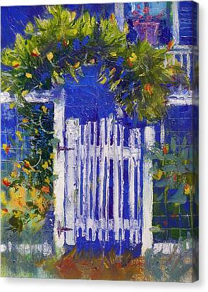 Joan's Gate Canvas Print by Gertrude Palmer