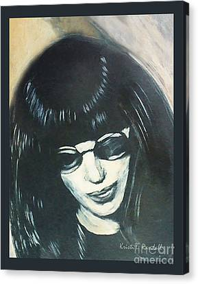 Joey Ramone The Ramones Portrait Canvas Print by Kristi L Randall