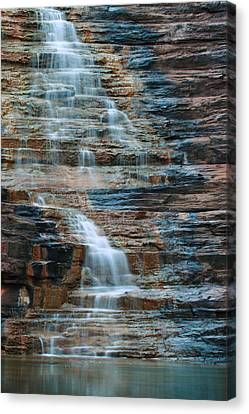 Joffre Gorge - Karijini Np 2am-29568 Canvas Print by Andrew McInnes