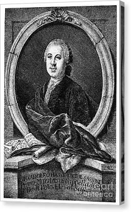 Johann Adolf Hasse Canvas Print by Granger