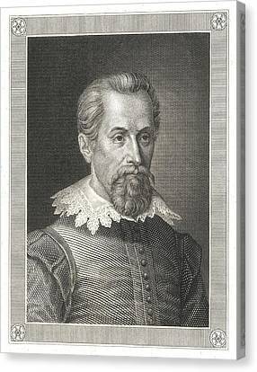 Johannes Kepler, German Astronomer Canvas Print by Detlev Van Ravenswaay