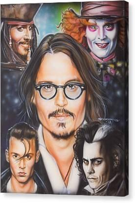 Johhny Depp Canvas Print