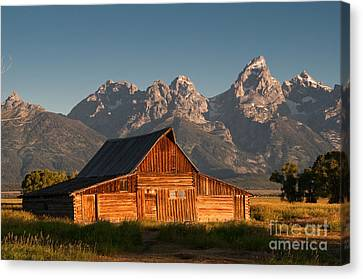 John And Bartha Moulton Barn Canvas Print by Stuart Wilson and Photo Researchers