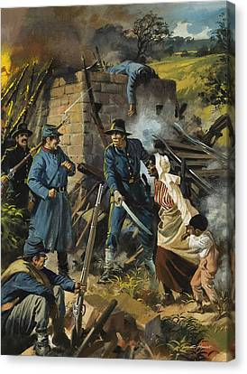 Abolitionist Canvas Print - John Brown On 30 August 1856 Intercepting A Body Of Pro-slavery Men by Andrew Howart