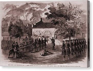 John Browns Insurrection.   While Canvas Print by Everett