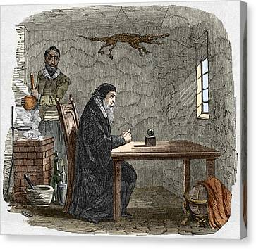 John Dee And Edward Kelly Canvas Print by Sheila Terry