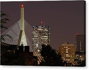 John Hancock Tower And Zakim Bridge Canvas Print by Juergen Roth