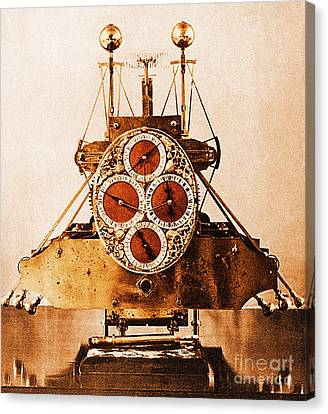 Keeper Canvas Print - John Harrisons First Sea Clock by Photo Researchers