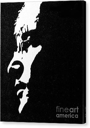 John Lennon Hi Contrast Canvas Print by Kenneth Regan