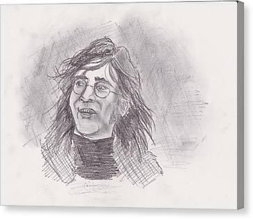 Canvas Print featuring the drawing John Lennon- Legend by Chris  DelVecchio