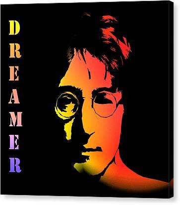 John Lennon Canvas Print by Steve K