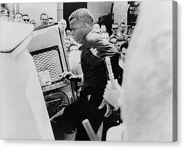 Nashville Tennessee Canvas Print - John Lewis Being Ushered Into A Police by Everett
