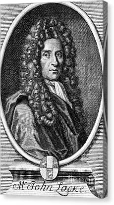 John Locke, English Philosopher, Father Canvas Print by Science Source