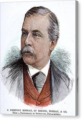 John Pierpont Morgan (1837-1913) Canvas Print by Granger