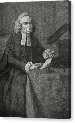 John Winthrop, Us Astronomer Canvas Print by Science, Industry & Business Librarynew York Public Library
