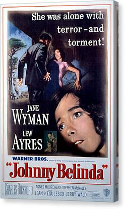 Johnny Belinda, Lew Ayres, Jane Wyman Canvas Print by Everett