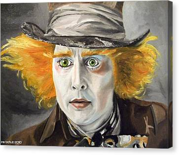 Johnny Depp - The Mad Hatter Canvas Print by Ina Schulz