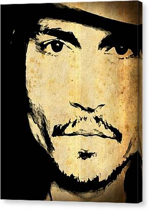 Johnny Depp - Up Close And Personal Canvas Print
