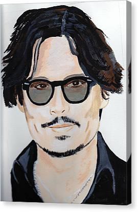 Johnny Depp 4 Canvas Print