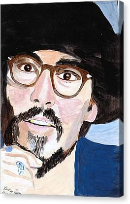 Canvas Print featuring the painting Johnny Depp 5 by Audrey Pollitt