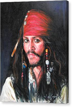 Johnny Depp Canvas Print by Anju Saran